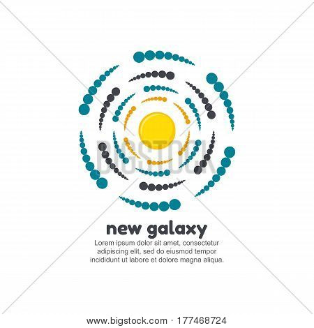 New galaxy logo template. Company logotype vector illustration