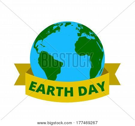 Illustration of Earth for International Mother Earth Day