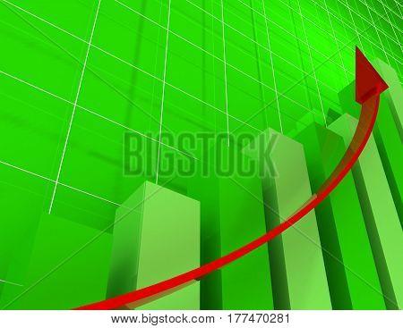 3d financial graph stat . busines concept .rendered illustration