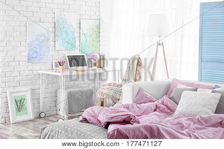 Design interior of teenage girl room
