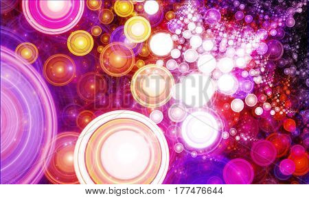 A beautiful dance of bright spheres moving toward a great attractor.