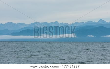 Landscape in pastel colors at Lake Baikal, Russia