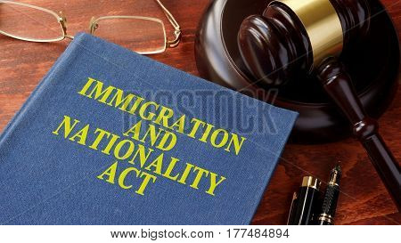 Book with title Immigration and Nationality Act (INA).