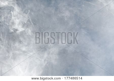 White steam or smoke. Background and texture