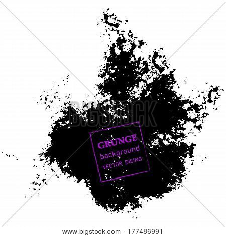 Abstract hand painted textured ink brush background, isolated strokes with dry rough edges