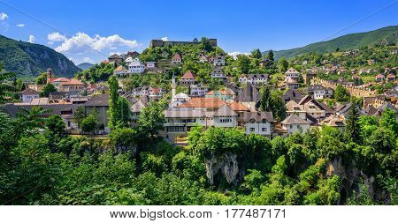 The Old Town Of Jajce, Bosnia And Herzegovina