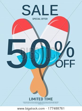 Abstract Designs Sale Banner Template. Vector Illustration ESP10