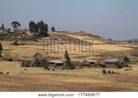 African Villages, Farms and cottages in Ethiopia