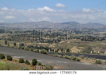 Roads along the Rift Valley in Ethiopia poster