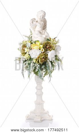 flower decoration for any holiday celebration and interior decoration isolated on white background