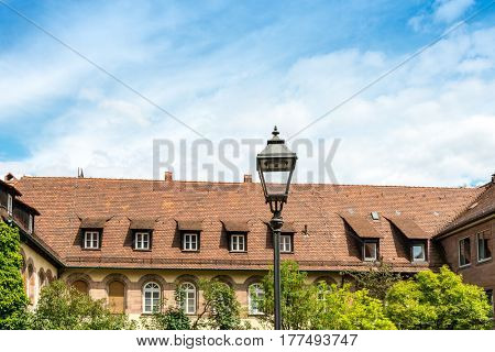 Traditional Street view of Nuremberg Cityscape, It is the second-largest city in Bavaria, GERMANY