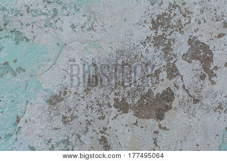 Painted concrete background in grey and gree color