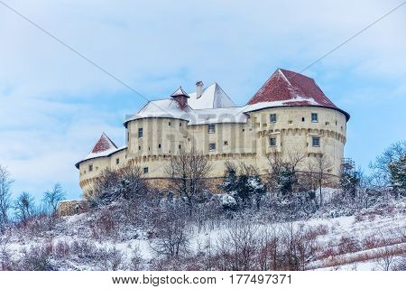 The old castle Veliki Tabor in Croatia, a Croatia's northwestern fortification system.