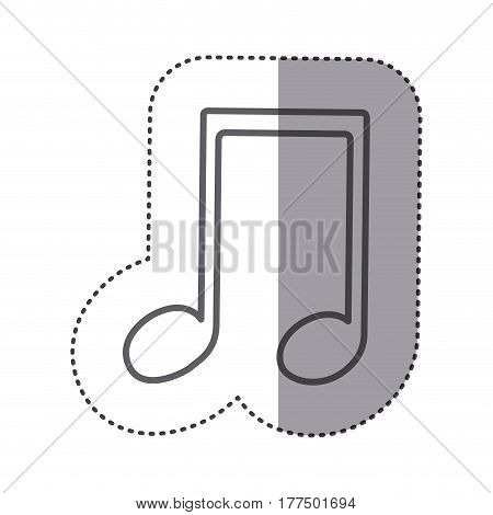 figure sign music note icon, vector illustration design