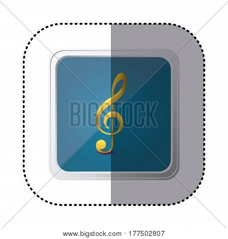 blue symbol music sign icon, vector illustration design