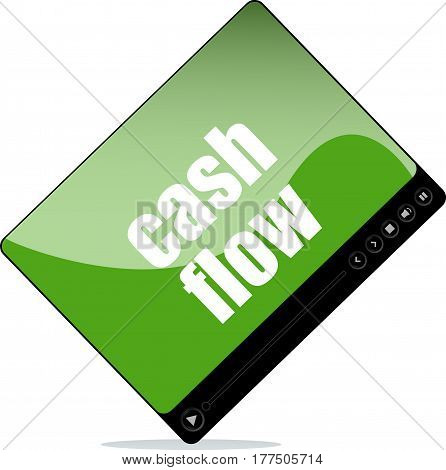 Video Player For Web With Cash Flow Words
