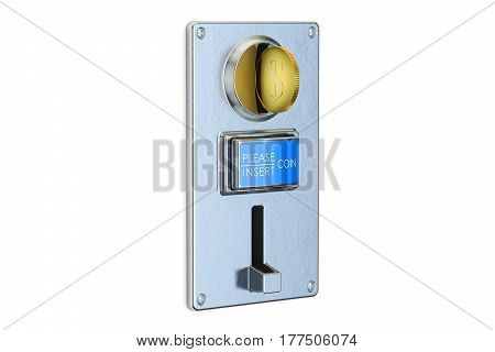 Coin Acceptor 3D rendering isolated on white background