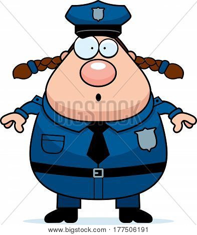 Surprised Police Woman
