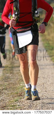 Runner During Jogging Workout With The Sports Apparel And Comfor