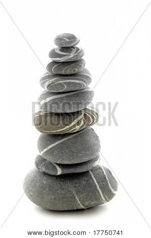 vertical composition of some stacked stones