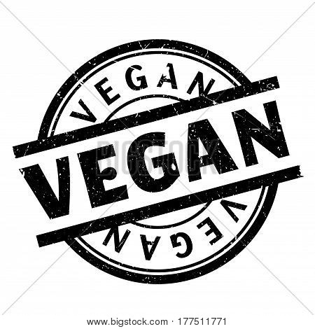 Vegan rubber stamp. Grunge design with dust scratches. Effects can be easily removed for a clean, crisp look. Color is easily changed.