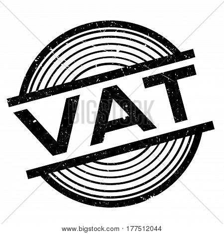 Vat rubber stamp. Grunge design with dust scratches. Effects can be easily removed for a clean, crisp look. Color is easily changed.