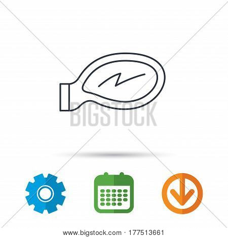 Car mirror icon. Driveway side view sign. Calendar, cogwheel and download arrow signs. Colored flat web icons. Vector