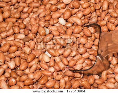 Apply a lot of groundnut brown background