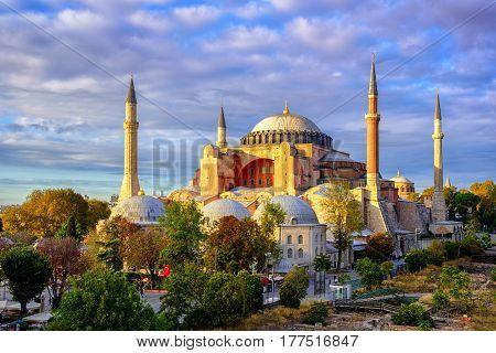 Hagia Sophia Domes And Minarets, Istanbul, Turkey