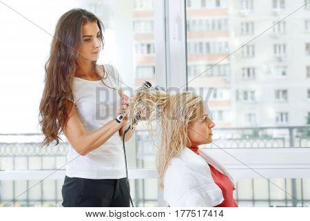 Hair Stylist At Work Hairdresser