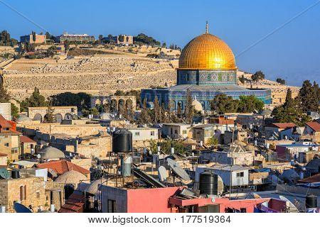 Golden Dome Of The Rock Mosque, Jerusalem, Israel
