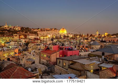 Old City Of Jerusalem And Temple Mount, Israel