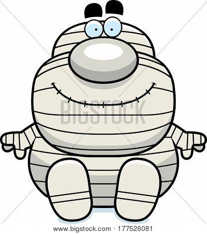 Cartoon Mummy Sitting