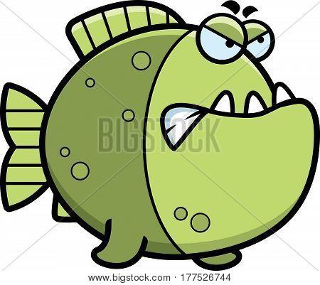 Angry Cartoon Piranha
