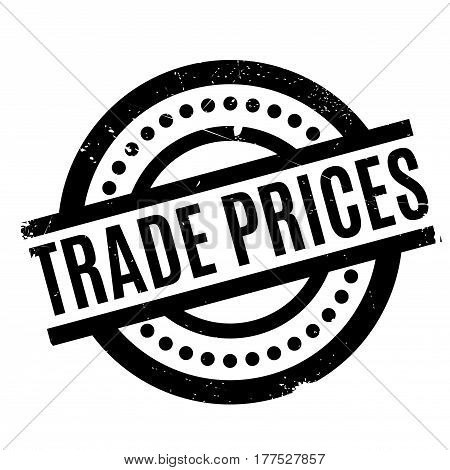 Trade Prices rubber stamp. Grunge design with dust scratches. Effects can be easily removed for a clean, crisp look. Color is easily changed.
