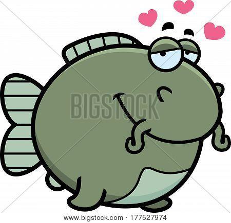 Cartoon Catfish In Love