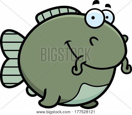 Cartoon Catfish Smiling