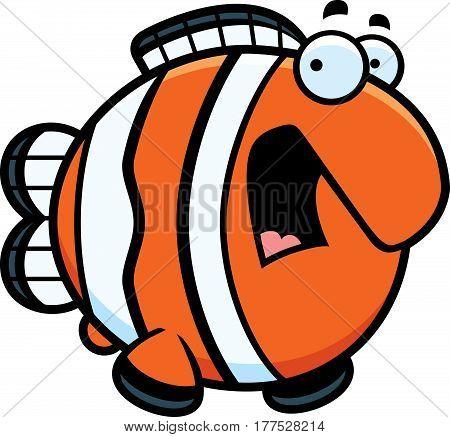 Scared Cartoon Clownfish