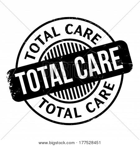 Total Care rubber stamp. Grunge design with dust scratches. Effects can be easily removed for a clean, crisp look. Color is easily changed.