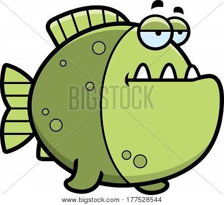 Bored Cartoon Piranha