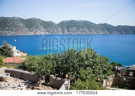 Ancient Settlement In Bay Of Turkey