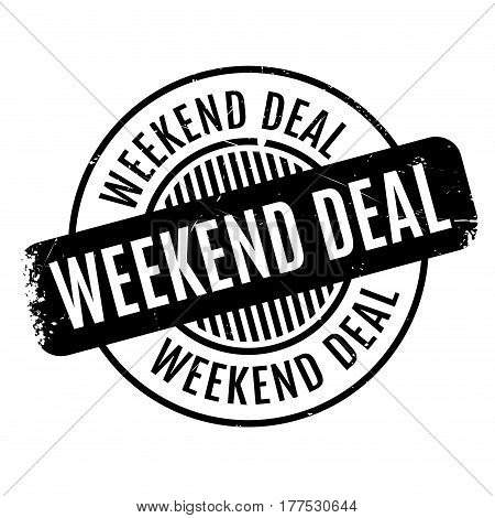 Weekend Deal rubber stamp. Grunge design with dust scratches. Effects can be easily removed for a clean, crisp look. Color is easily changed.
