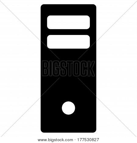 Server Mainframe vector icon. Flat black symbol. Pictogram is isolated on a white background. Designed for web and software interfaces.