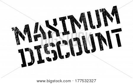 Maximum Discount rubber stamp. Grunge design with dust scratches. Effects can be easily removed for a clean, crisp look. Color is easily changed.