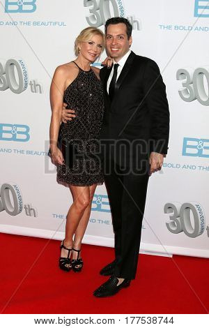 LOS ANGELES - MAR 19:  Katherine Kelly Lang, Dominique Zoida at the