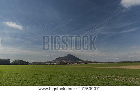 Bezdez castle in north Bohemia region in spring sunny day
