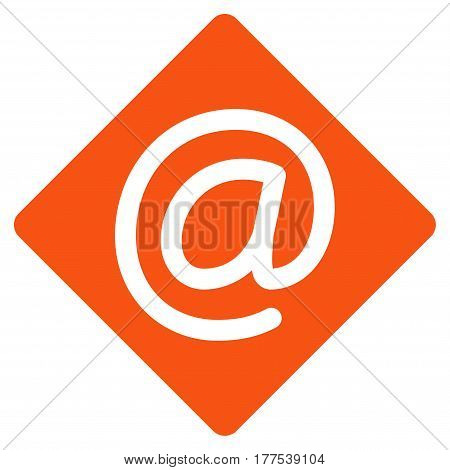 Email vector icon. Flat orange symbol. Pictogram is isolated on a white background. Designed for web and software interfaces.