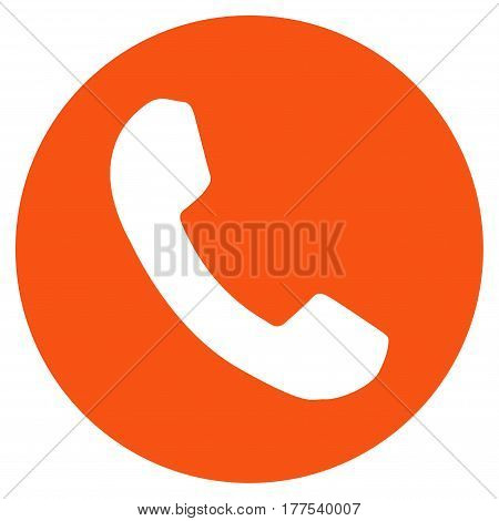 Phone Number vector icon. Flat orange symbol. Pictogram is isolated on a white background. Designed for web and software interfaces.