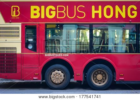 Bigbus At Downtown In Hong Kong