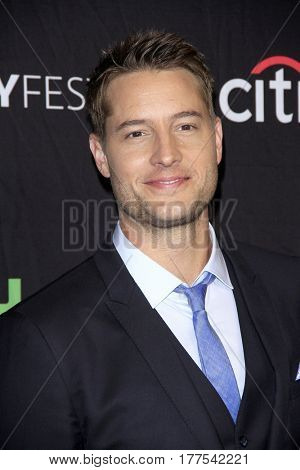 LOS ANGELES - MAR 18:  Justin Hartley at the 34th Annual PaleyFest Los Angeles -